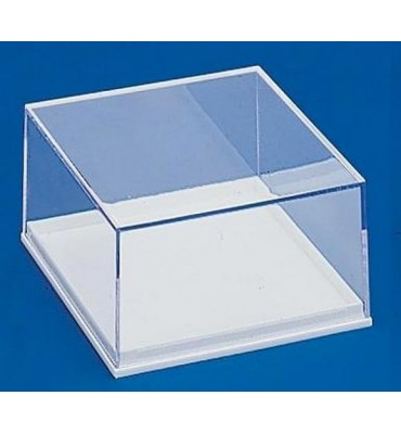 BB034 - Transparent box white base 84x84x43 mm.