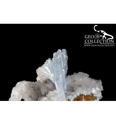 Barite Blu su Limonite e Calcite