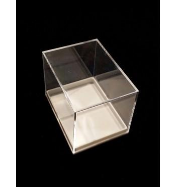 BB016 - Scatola trasparente con base bianca mm 56x42x43