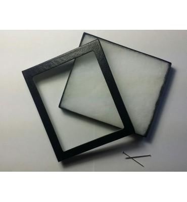 Scatola plastica trasparente con lente 5x, mm 26x26x29