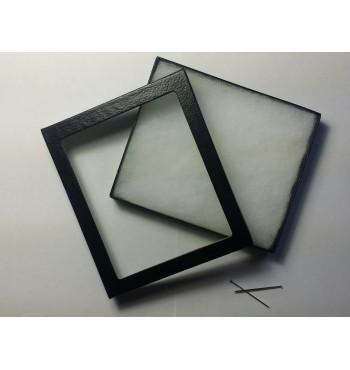 TL003 - Scatola con lente 3x in plastica trasparente, mm 35x40x37